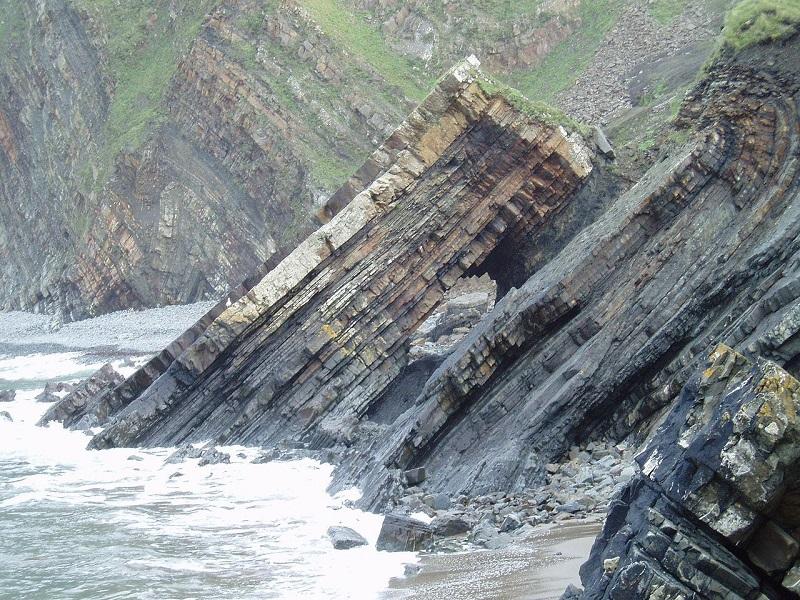 Rock Folds – Hartland Quay British Coastline