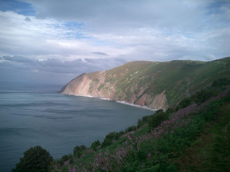 The Exmoor coastline showing Foreland Point