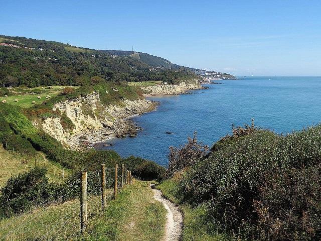 Isle of Wight Coast Path near St Lawrence