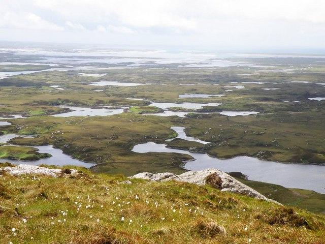 Looking over North Uist