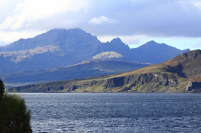 Over Loch Eishort and Loch Slapin