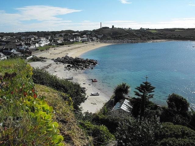 The beach at Porthcressa